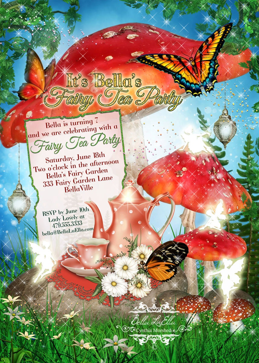 fairy tea party invitation fairy garden party fairy