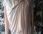 TMD: soft pink asymmetrical cardigan,hooded sleeveless vest or with sleeves high fashion, urban edgy sm m l xl xxl
