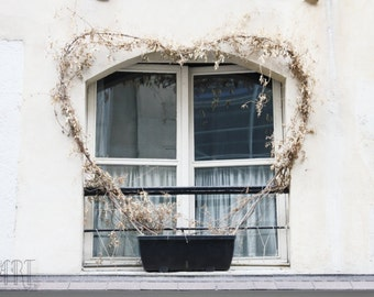 Paris decor valentines day beige wall art love print I love you window photograph fine art photo nature photography 4x6 5x7 6x8 8x10 10x15