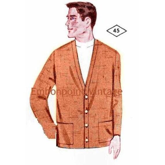 Plus Size (or any size) Vintage 1969 Men's Jacket Pattern - PDF - Pattern No 45 Brad