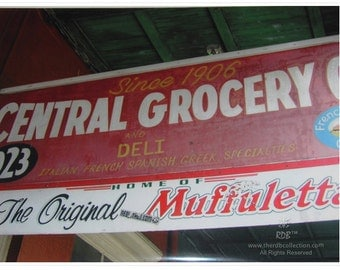 Original Central Grocery Sign Photograph