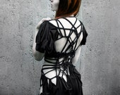 "Black Dress ""B. No 2"", ROHMY Black Label / asymmetrical / handmade / Nocturne Collection - ROHMY"