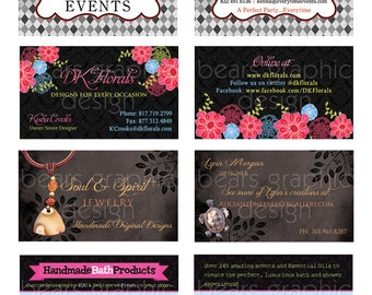 Business Card Design, Custom Business Card, Etsy Business Card, Graphic Design, Calling Card, Digital File, Personalized, Business Card