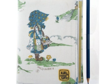 A6 Journal - Holly Hobbie vintage fabric