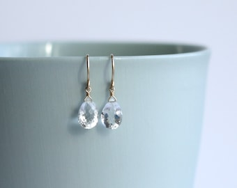 ROCK CANDY - 14K gold filled rock crystal earrings