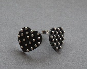 Sterling Silver Heart Earrings J5