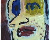"Original Painting - ""Man - Troubled"" by Peter Mack"