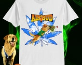 UNISEX Air Bud Weedtriever Marijuana Slam Dunk T-shirt // WHITE // 90s Disney Movies // fASHLIN