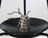 Couple Fan Sterling Silver Ring (Wind Element)