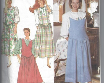 Simplicity 9765 Pattern for Misses' Jumpers & Blouses with Collar Variations, Size 4 to 10, From 1990, Vintage Pattern, Home Sewing Pattern