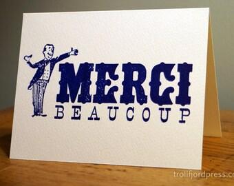 Merci Beaucoup Letterpress Notecard