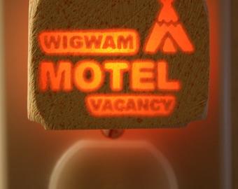Wig Wam Motel       small 1/3 watt night light