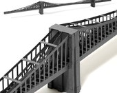 Brooklyn Bridge, paper model kit with pre-cut details    New York City landmark    39 inches long    silver, steel or coffee color