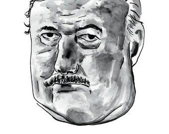 Ernest Hemingway punctuation poster print Great American Writer