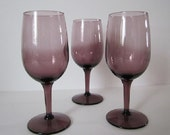 """Wine Glass 6 oz. Two Tone Purple Amethyst Stands 6"""""""