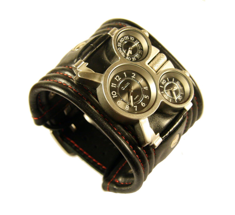 Men's wrist watch leather bracelet Tuareg-3.