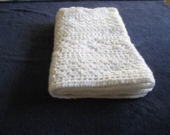 crochet white baby blanket handmade- baby crochet blanket white-handmade crochet white baby blanket-ready to ship white crochet blanket