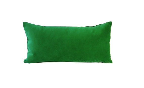 Kelly Green Decorative Bolster Pillow Cover 10x20 by NoraQuinonez