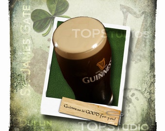 Guinness 12x12 Collage Art Photograph - Guinness is GOOD for you...Pint collage