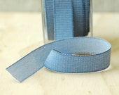5 Yards Indigo Denim Ribbon Twill Tape Sewing Notion Gift Wrapping Chambray Ribbon