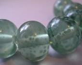 Handmade Glass Green Lampwork Beads Ericabeads Lichen (6)