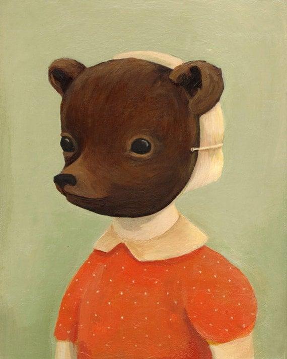 Bear Disguise Print 8x10