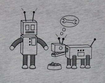 Robot & Robot Dog Womens Tee