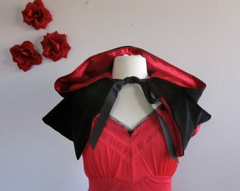 Red Riding Hood Capelet red velvet hooded cape for women