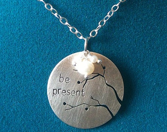 Cut Branches in Sterling Silver - Be Present