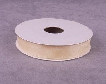 25 yds Cream Organza Ribbon (OR58CR)