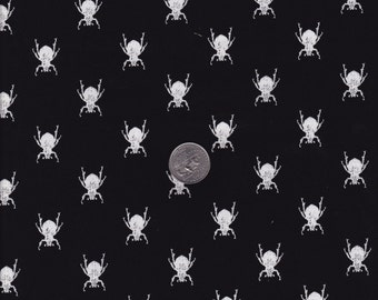 Goth Bugs in Black - Michael Miller cotton quilt fabric - fat quarter