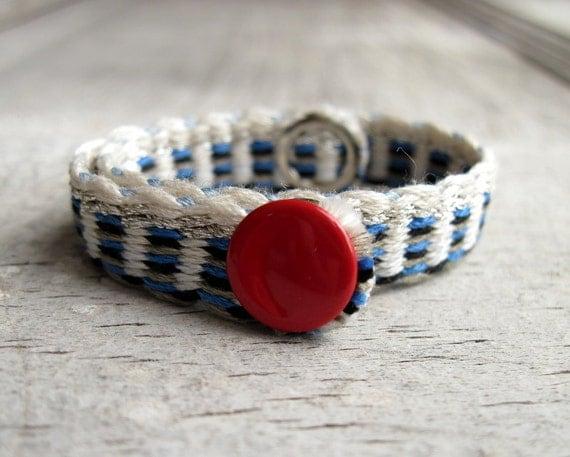 Homemade Floss Bracelet, Blue and Silver Bracelet, Custom Size Bracelet, FAMILY TREE