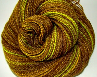 Tigers Eye - Handspun 2ply Falkland Wool Yarn  195yds