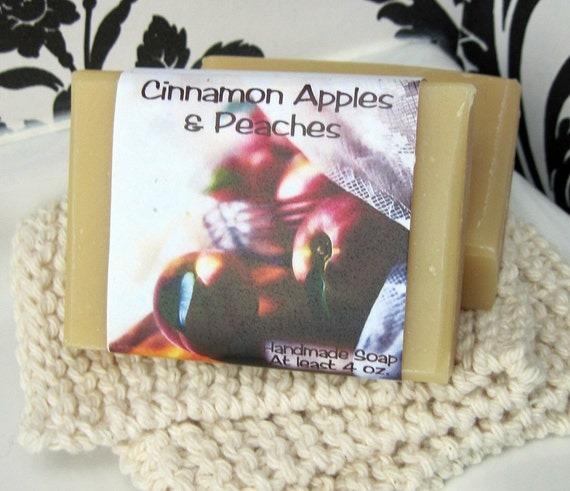 Cinnamon Apples and Peaches Cold Process Soap Handcrafted in Martinsville