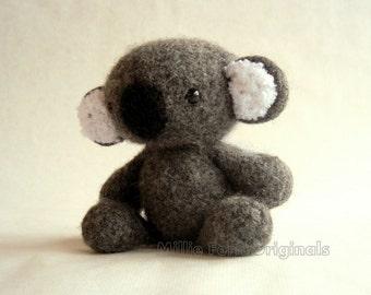Felted Wool Koala Crochet Plush Toy