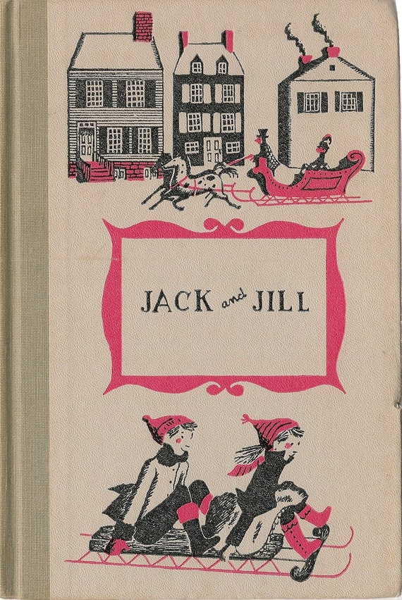 Vintage Kids Book Jack And Jill A Village Story Louisa May