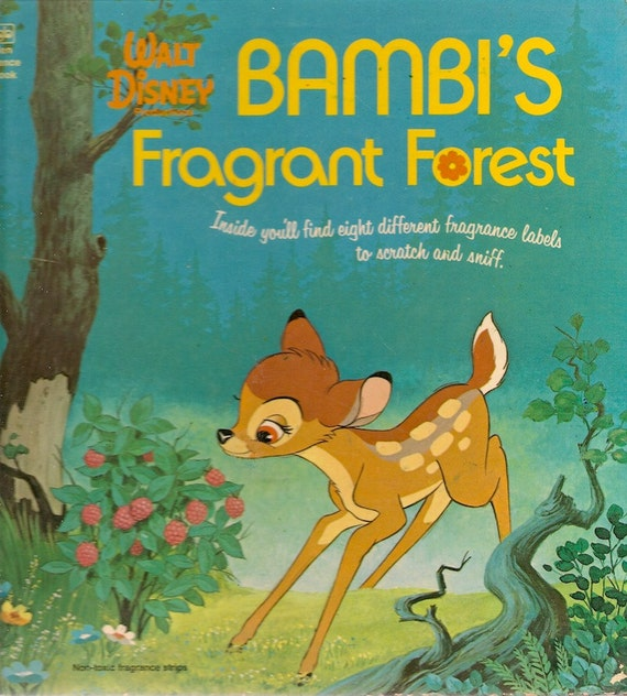 VINTAGE KIDS BOOK Bambi's Fragrant Forest A Golden Fragrance Book Scratch and Sniff