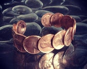Copper Penny Cuff Bracelet