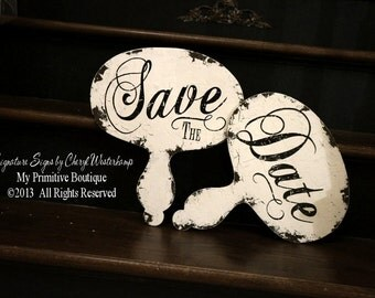 Save The Date Paddle Signs. Rustic Wedding. Chalkboard Sign. Photo Props. Save The Date Props. Photo Booth Props. Wedding Photo Prop.