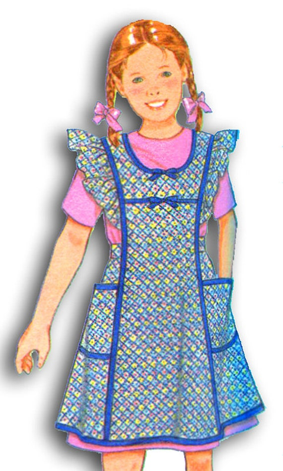 SIMPLICITY 8916 Girl's Vintage Style Aprons