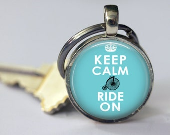 Keep Calm and Ride On - Key Chain - 25mm Round