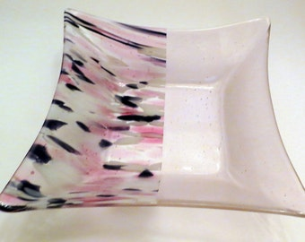 Fused Glass Bowl, Pinks and Purples, Dinning and Entertaining, Statteam