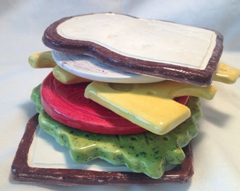 Sandwich Ceramic Coaster Set