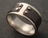 Men's Ring - Silver, Textured Titanium Mind The Gap, Mens Wedding Band, Men's Wedding Band, Mens Wedding Ring, Silver Mens Ring, Silver Ring