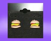 Burger Stud Earrings
