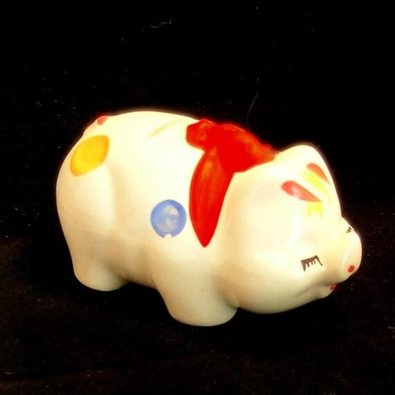 Vintage Ceramic Pig Piggy Bank