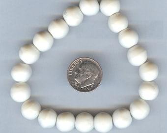 10mm Round High Quality Natural White Round Bone Beads 20pcs