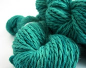 Hand dyed yarn, bulky baby alpaca, chunky knitting crochet wool, Teal Temptation, Perran Yarns