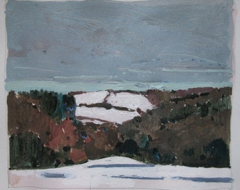 White Hills, Original Landscape Painting on Paper