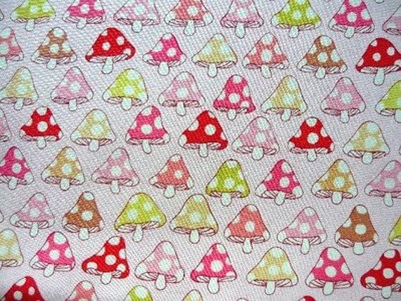 """Toadstool  Alexander Henry fabric remnant 31"""" x 44"""""""